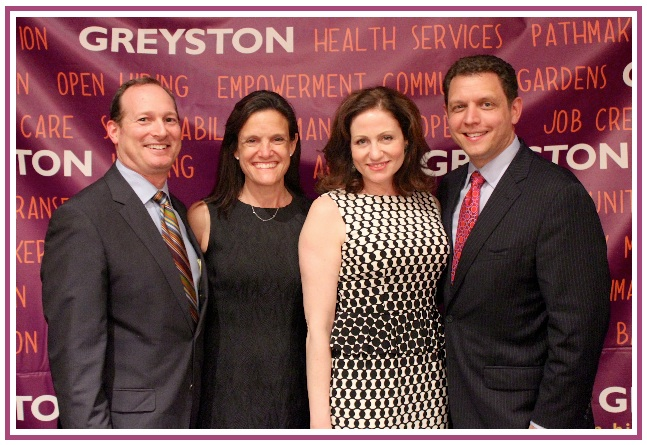 Scarsdale residents Jay Musoff and Stephanie Blank with Greyston Foundation Board Member Michelle Friedman and husband Darren, attended the Greyston Foundation benefit where Jeff Koslowsky, Managing Member of Indigo Asset Management and CFO of Advocate Brokerage was honored for his work as the former chairman of the Greyston Foundation's board of directors.